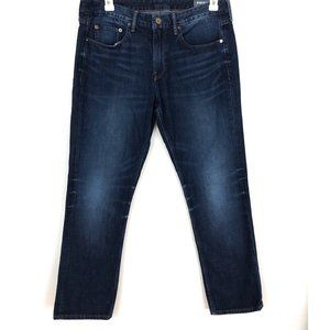 Bonobos 35 x 30 Dark Wash Slim Straight Jeans